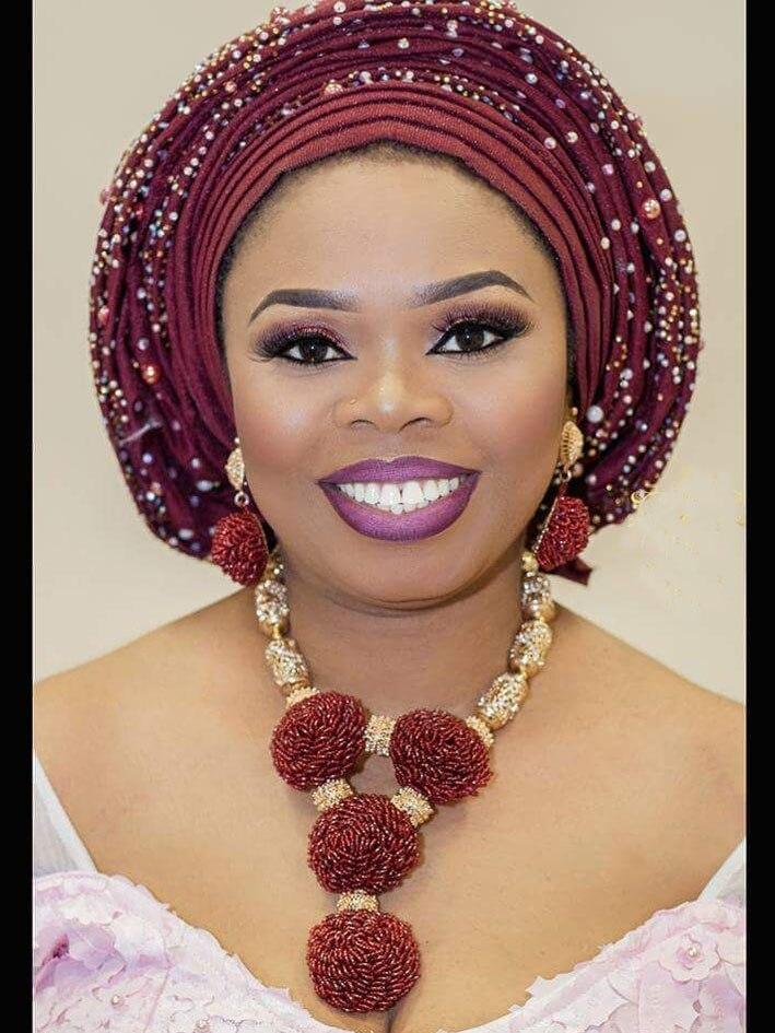 Mode Vin Bourgogne Femmes Africain Nigérian Bijoux De Mariage Ensembles Vin Perle De Rocaille Pendentif Déclaration Collier Ensemble Mariée 2018 WE134