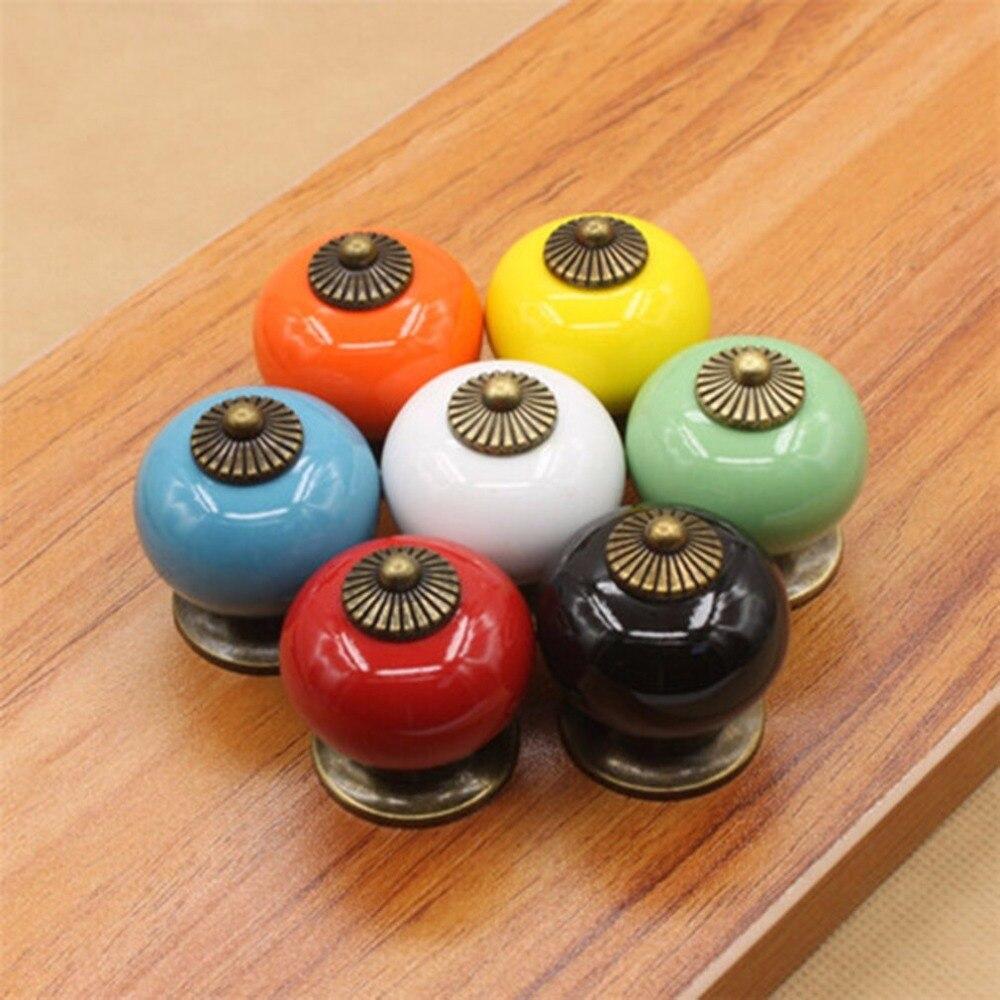 Ball Ceramic Handles Drawer Knobs Cupboard Handles Single Hole Cabinet Handles With Screws Furniture Handles