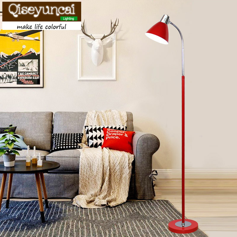 In Quality Dashing Qiseyuncai Nordic Remote Control Adjustable Light Led Eye Guard Floor Lamp Living Room Bedroom Study Three Section Pole Lighting Superior