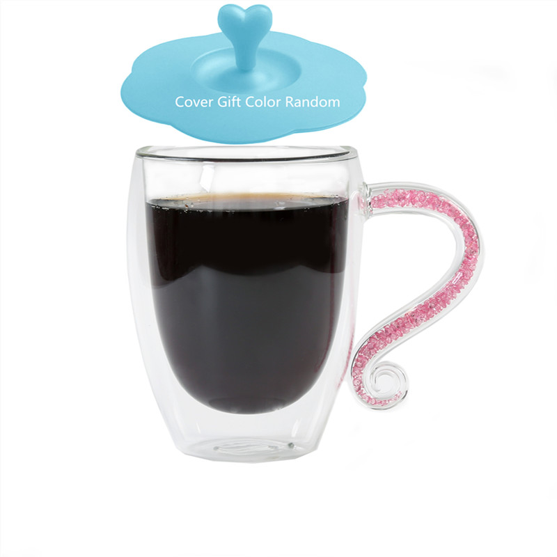 Хрустальные кофейные кружки с двойными стенками, изоляционная чашка для молока и чая с акриловыми стразами, ручная ручка, Рождественский подарок на заказ|Кружки|   | АлиЭкспресс - 16 фаворитов NikiMoran с Aliexpress