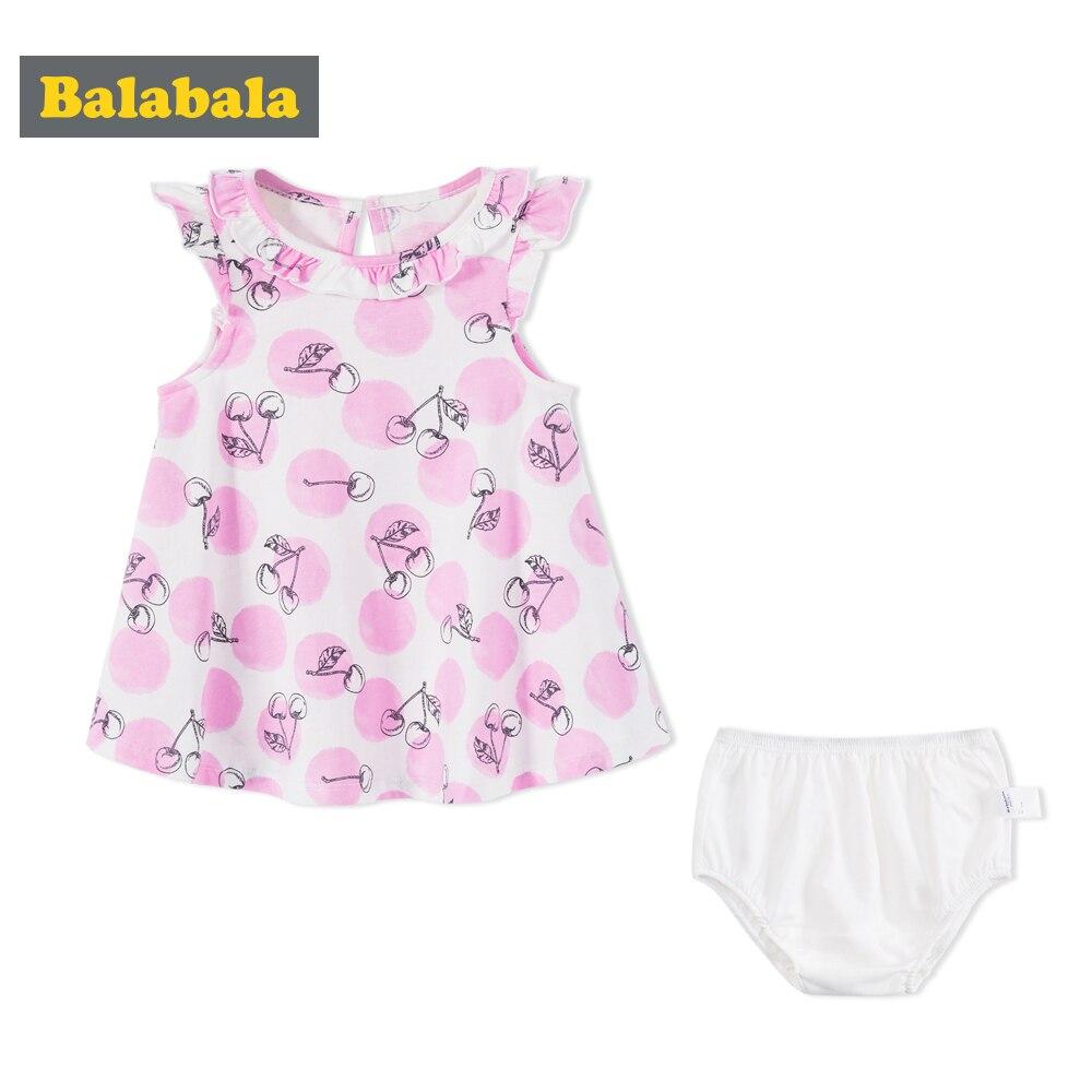 Balabala 12M-24M baby beauty dress for Summer style new style childrens clothes baby girl newborn tutu dress non-Sleeve Dress