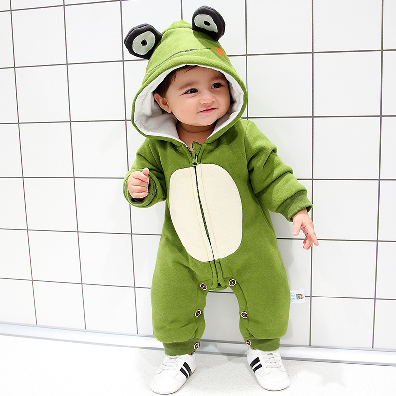 Autumn winter cute baby girl boy jumpsuit cartoon frog baby romper outfit clothes set age 0-18m christmas baby clothes retail 2015 winter new cute baby girl clothes black swan romper tutu dress kids cartoon clothes sets newborn outfit suits 4pcs