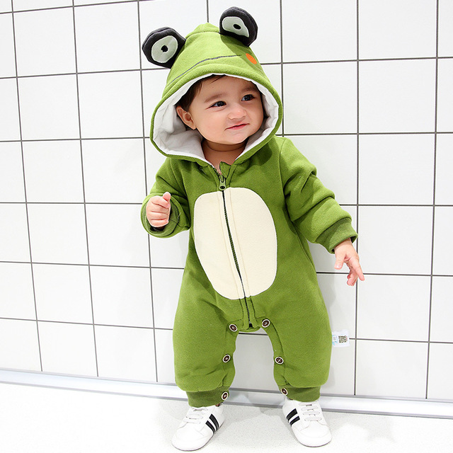 8260fb251521 Autumn winter cute baby girl boy jumpsuit cartoon frog baby romper outfit  clothes set age 0-18m christmas baby clothes