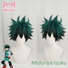 【AniHut】 Anime My Hero Academia Cosplay Wig Izuku Midoriya Wig Boku No Hero Academia Cosplay Hair Izuku Midoriya Deku Wigs