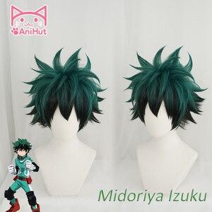 Image 1 - Anihut】 perruque de Cosplay Izuku Midoriya, perruque de Cosplay Anime My Hero Academia, perruques de Cosplay, Izuku Midoriya Deku