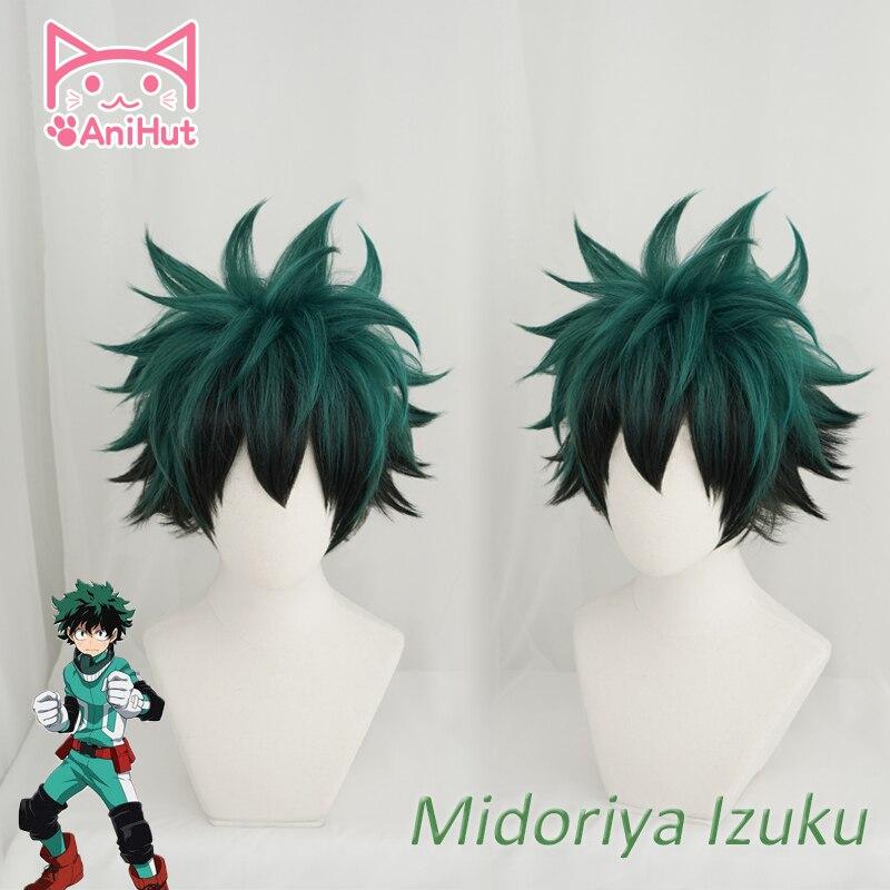 Anime meu herói academia cosplay peruca izuku midoriya peruca boku nenhum herói academia/academia cosplay cabelo izuku midoriya deku perucas
