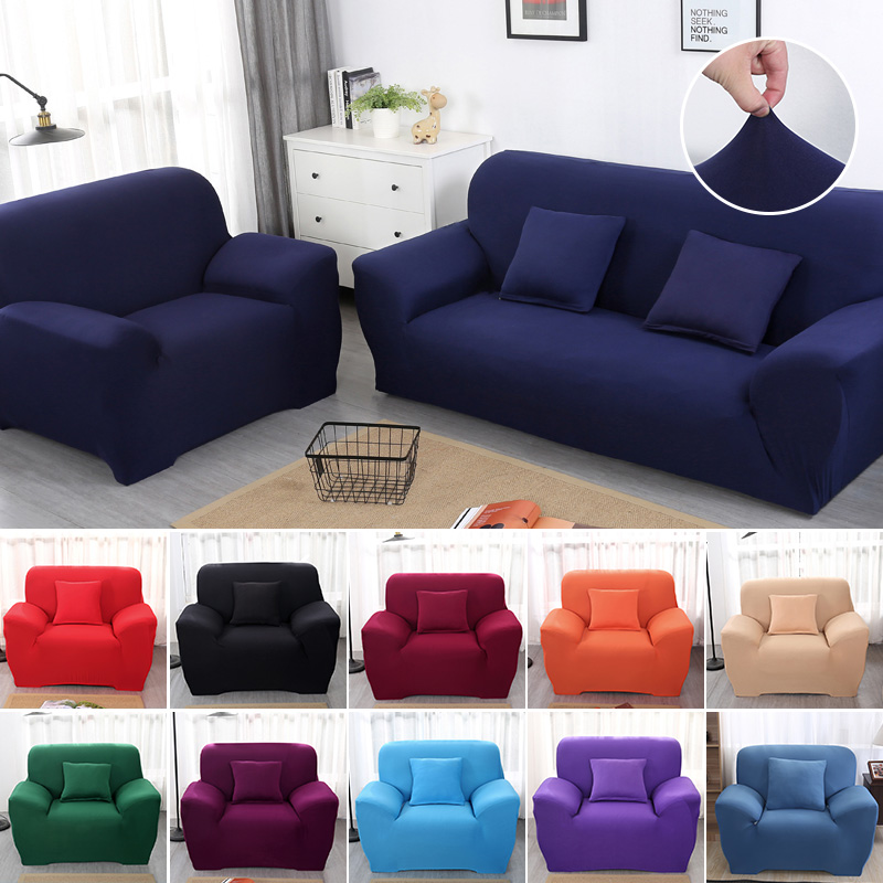 Elastic Cover For Sofa Living Room Couch Cover Sectional Sofa Slipcover Armchair Cover Spandex Sofa Cover Stretch 1/2/3/4 Seater