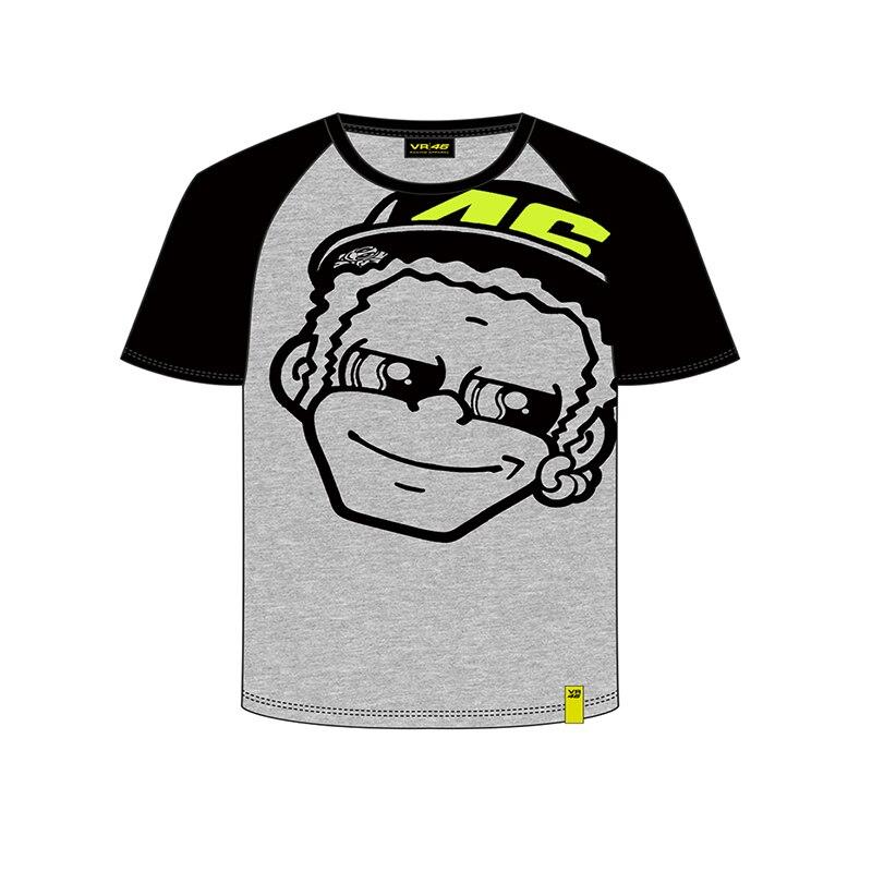 Moto GP Valentino Rossi VR46 Kids T-shirt fumetto the doctor Racing Grey TShirt