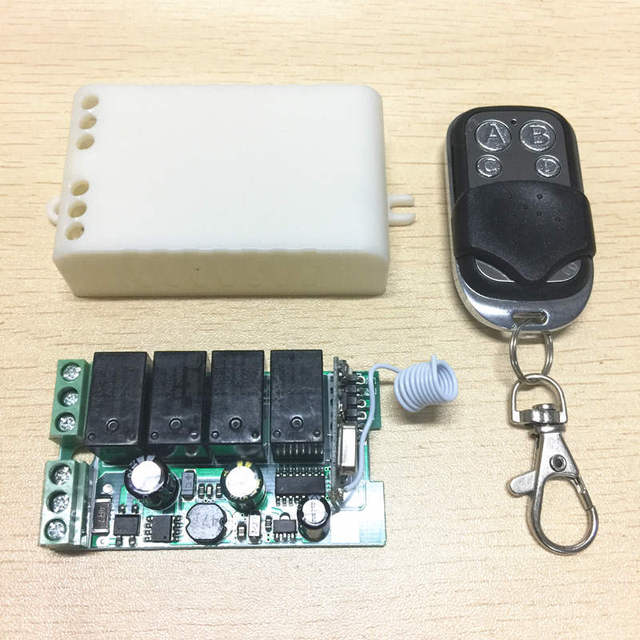 433Mhz Universal Wireless Remote Control Switch AC 85V ~ 250V 110V 220V 4CH Relay Receiver Module and RF 433 Mhz Remote Controls
