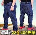 Frete grátis plus size 4xl 6xl 8xl 48 50 52 54 56 58 60 homens hiphop calças calças militares tops azul das calças de brim dos homens da marca para 200 kg