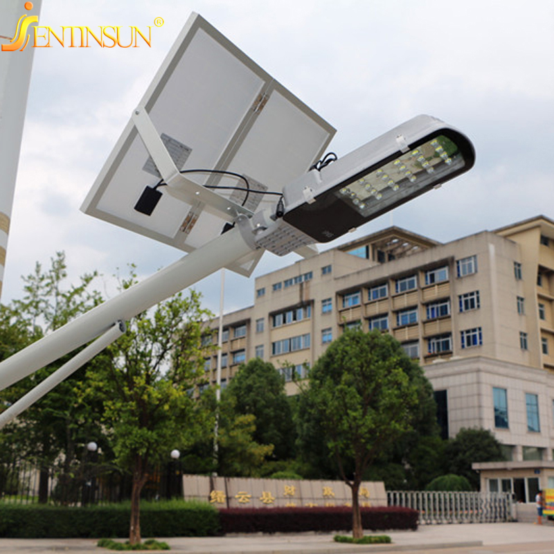 Super Brightness Solar panel 30W Street Light 30pc LED Integrated Solar Street Light Remote Control Waterproof Outdoor Path Lamp 40w led solar street light solar sensor light 60w solar panel 27ah battery all in one integrated outdoor solar light waterproof