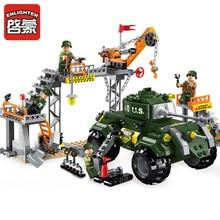 1712 ENLIGHTEN WW2 Military Battle Series The Ordance Factory Model Building Blocks Figure Toys For Children Compatible Legoe