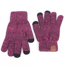 2019 Unisex tagu wysokiej jakości rękawiczki robione na drutach mężczyzna kobieta ciepłe rękawiczki Plus aksamitna zagęścić rękawice do ekrany dotykowe z wełny kaszmirowy tanie tanio COTTON Dla dorosłych Moda Nadgarstek Stałe GDH39 RVYVON