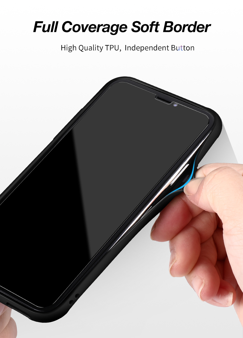 CAFELE New Original Phones Cases For iPhone X 10 Case soft TPU + Ultra Thin Transparent Glass Back Cover For iPhones X 10 Case (7)