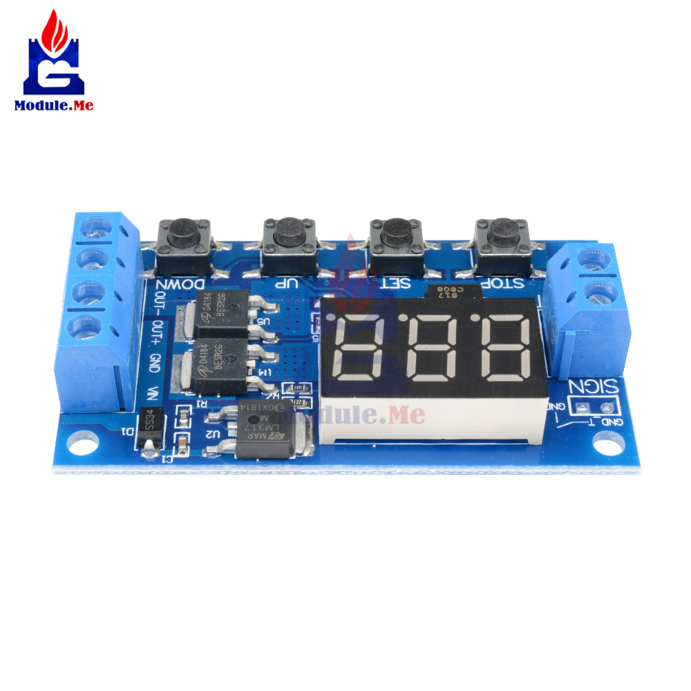 Trigger Cycle Timer Delay Switch 12v 24v Circuit Board Dual Mos Tube Lm317 Automatic Low Cost Emergency Light Book Free Control Dc Motor Led Module Micro Pump Controller In Integrated Circuits From