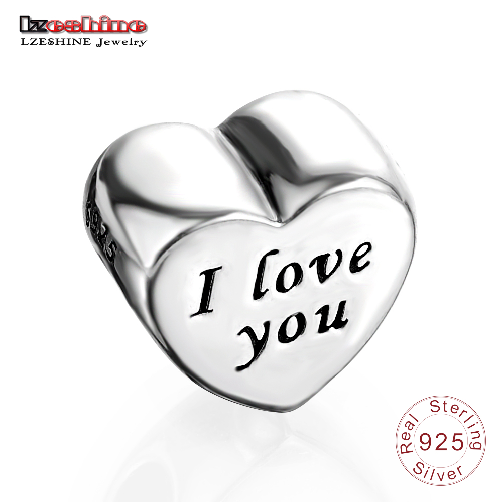 LZESHINE подарок ко Дню Святого Валентина 925 Серебряные шарики Я люблю тебя Серебряная бусы браслет шарма ювелирных PSMB0032