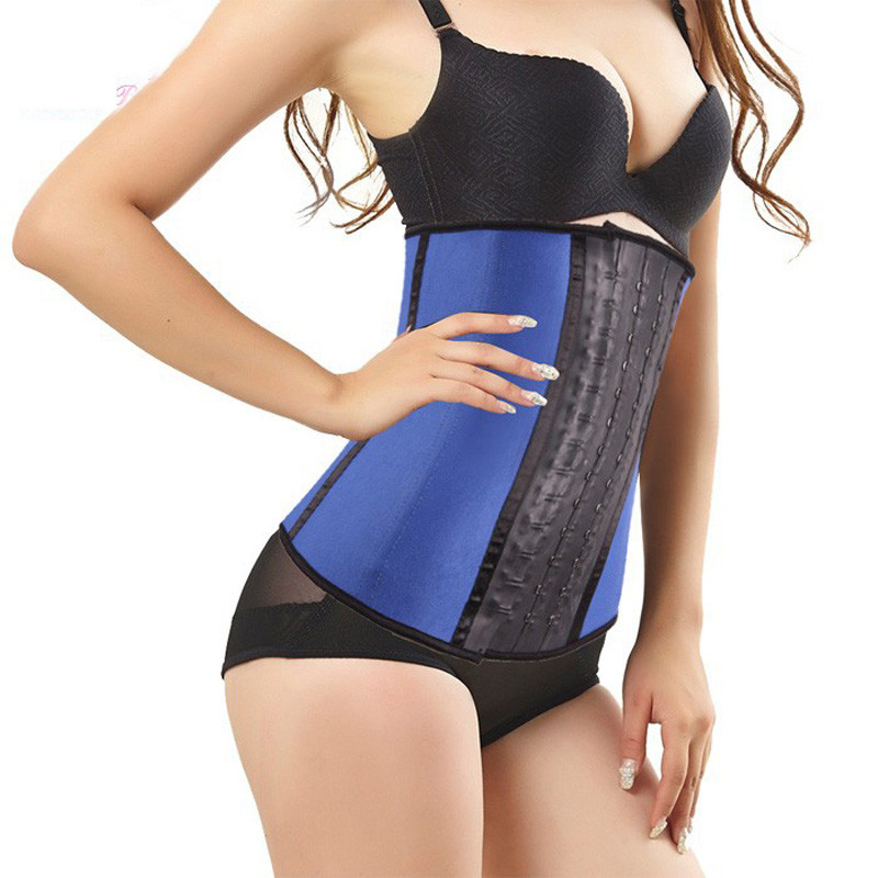 Latex Waist Trainer Waist Trainer Corsets Steel Boned Corsetto corselet Cincher Underbust Corset Gaine belly For Women Korset