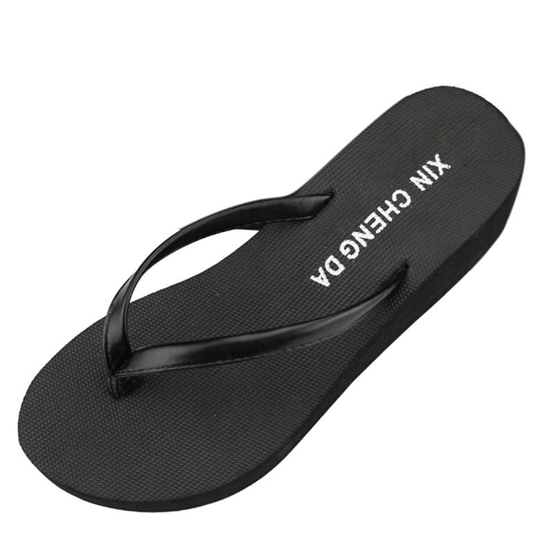 Women Casual Fashion Flip Flops Outdoor Slippers Summer Platform Shoes High Heels Sandals  Beach Wedge Shoes