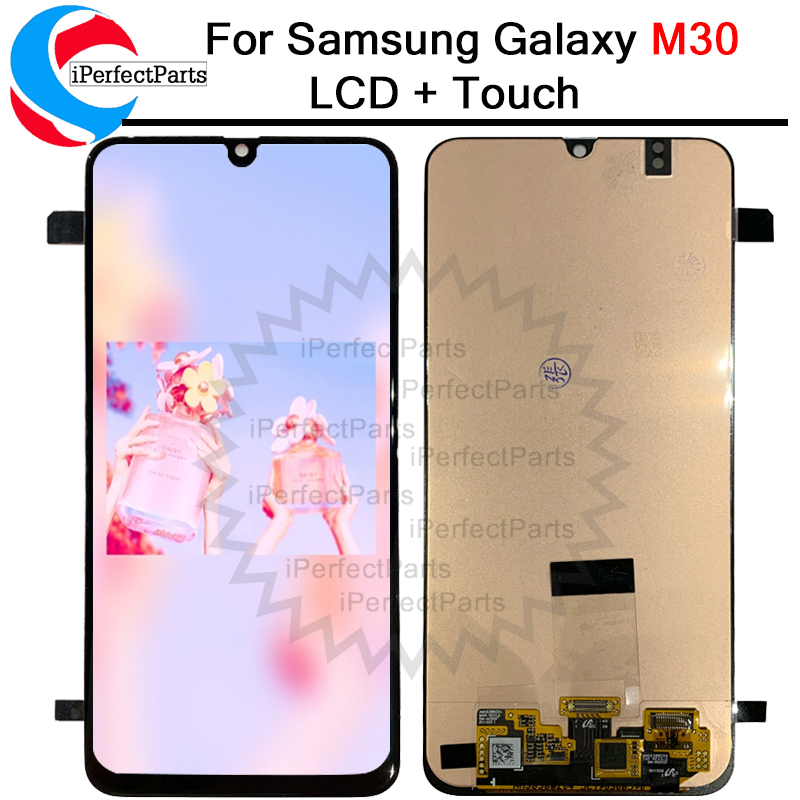 Super amoled For Samsung Galaxy M30 2019 M305F LCD Display Touch Screen Digitizer Assembly Replacement For