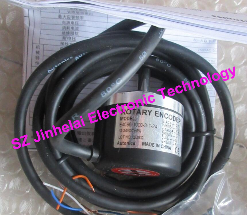 100% New and original E40S6-1000-3-T-24  AUTONICS   Incremental rotary encoder  12-24VDC e50s8 1000 3 t 24 new and original autonics incremental rotary encoder