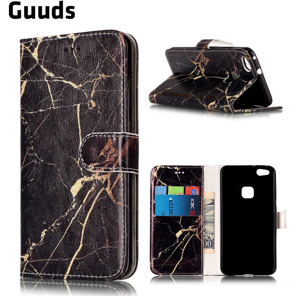 GUUDS 10 Designs for Huawei P10 Lite Leather Case PU Leather Wallet Case for Huawei P10 Lite P10lite FREE SHIPPING
