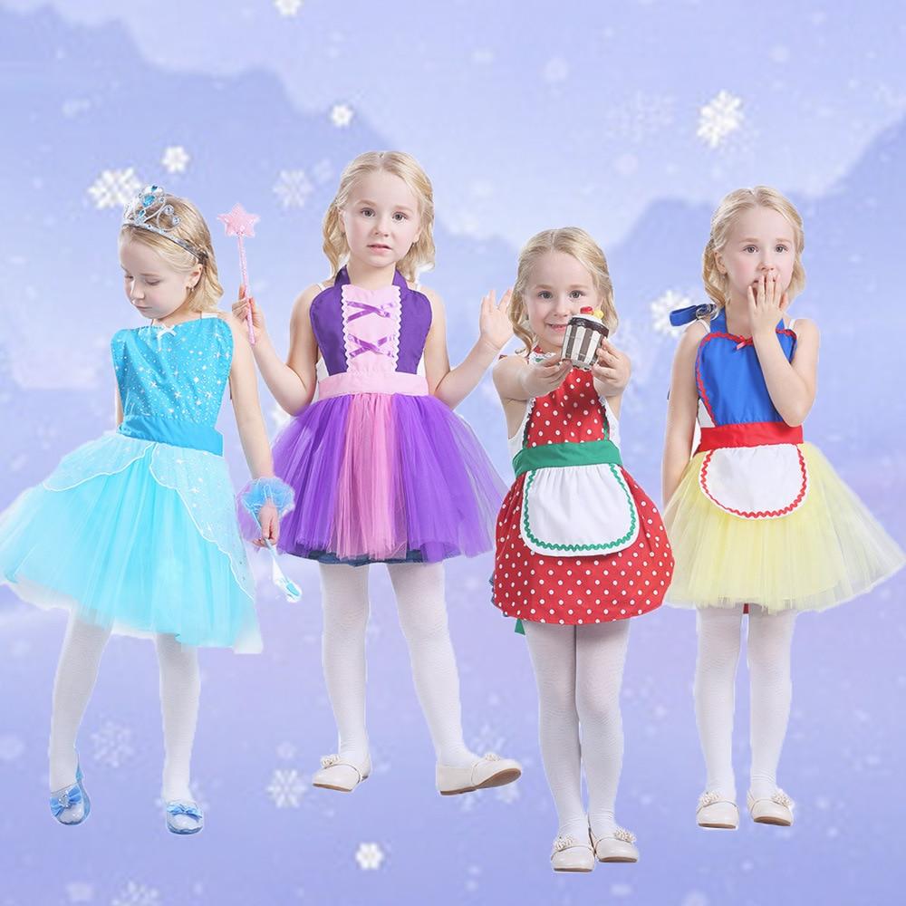Alice im Wunderland Anna Elsa Prinzessin Kostüm Tutu schürze für mädchen spaß für Halloween Weihnachten Geburtstag Dress up kostüm