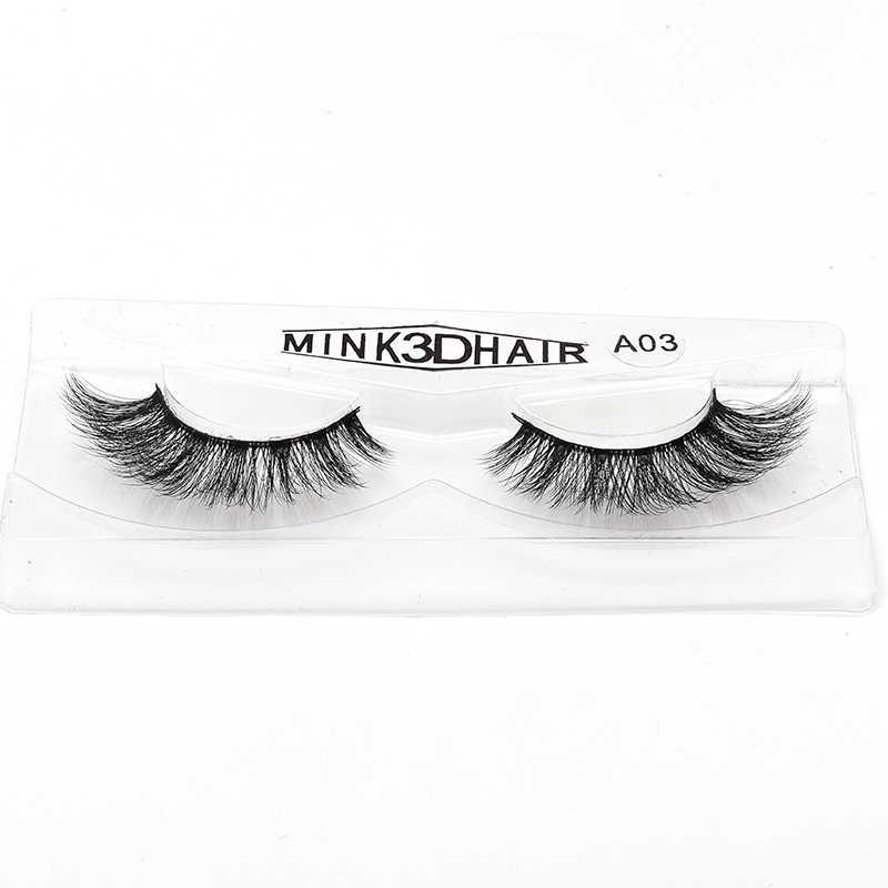 4c19a89e531 ... 2018 New Mink Lashes 3D Mink Eyelashes Invisible Band Natural Black  Mink False Eyelash Full Strip