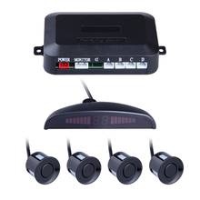 LED Parking Sensor With 4 Sensors Parktronic Reverse Backup Car Parking Radar Monitor Detector System Free