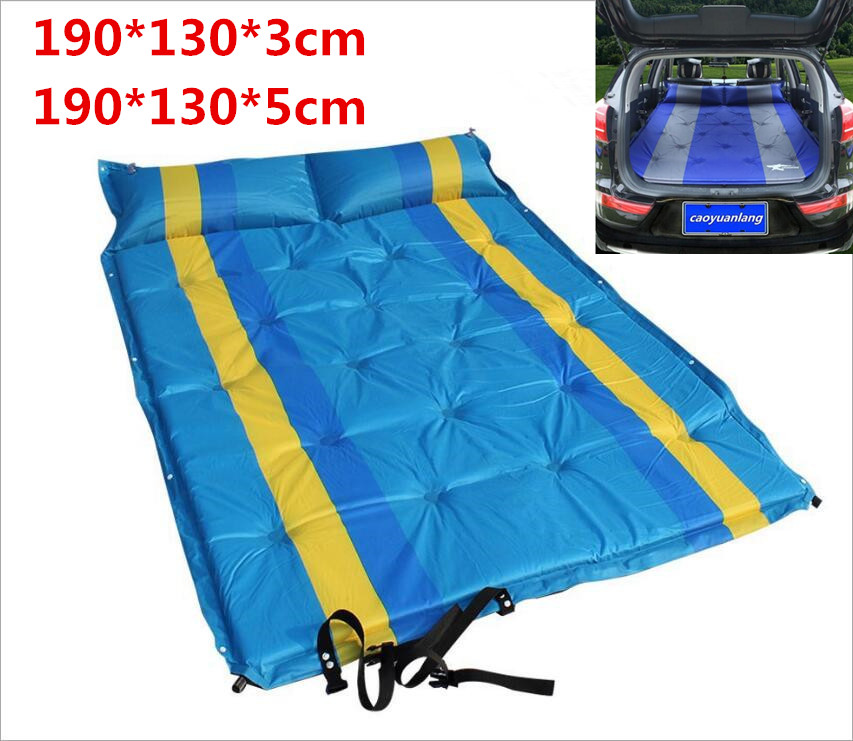 Mobile Inflation Travel Thicker Back Seat Cushion Air Bed for SUV Car Inflatable Sleeping Air Mattress Intex Camping Pad Mats