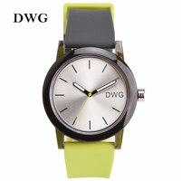 DWG Brand Quartz Watch Women 3Bar Silicone Band Mens Watches Ladies Gift Watch Analog Sports Wristwatch