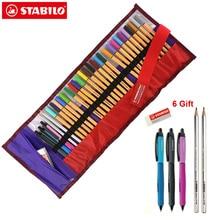 ستابيلو بوينت 88 فينلينر طقم أقلام بكرة 0.4 مللي متر أقلام تلوين رسم فني اينر 25 لون مع جل قلم ممحاة أقلام رصاص