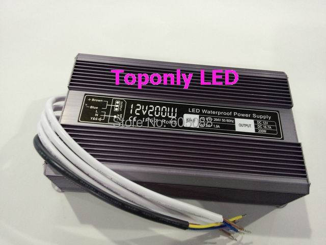 2016 New DC24v 200w led power supply ip67 waterproof led transformer constant voltage led driver CE&ROHS AC110v 220v input dc12v 100w ip67 waterproof constant voltage electronic led driver transformer power supply free shipping