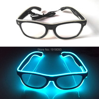 Free Shipping 10pieces Wholesale EL Wire Flashing Sunglasses with Steady on Inverter Glowing Props