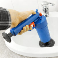 Bathroom Accessory Air Pressure Toilet Cleaning Brush Sewer Cleaner Brushes Dredge Device Kitchen Sink Cleaning Tool