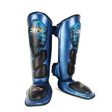 Микрофибра ПУ для взрослых Муай Тай спарринг боксерские щитки Insteps ноги поддержка протекторы кик лодыжки Brace тренировочное снаряжение EO