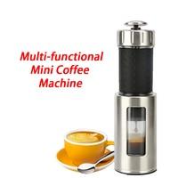 Portable Mini Coffee Machine Manual Italian Ice Drop Milk Foam Multi Functional Coffee Grinder Espresso Coffee Maker 80ml