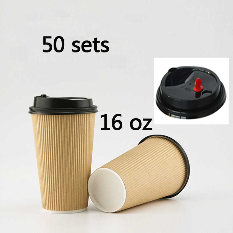 9ee5d051bb2 Detail Feedback Questions about 50 Count 16oz Corrugated Coffee Cup ...