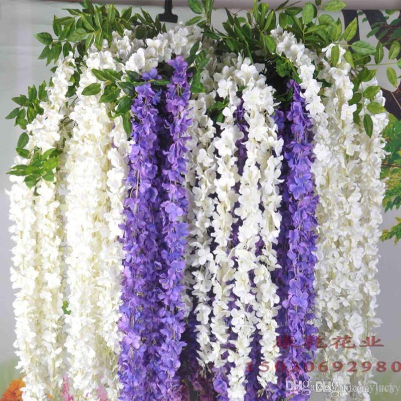 Artificial hydrangea silk flowers 54 feets long elegant wisteria artificial hydrangea silk flowers 54 feets long elegant wisteria vine rattan for wedding home christmas decorations mightylinksfo