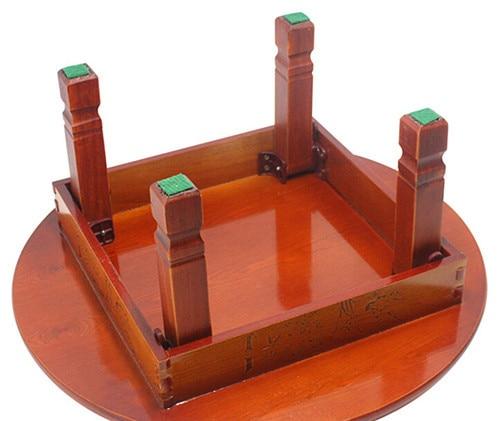 Korean Coffee Table Folding Leg Round Asian Antique Furniture ...