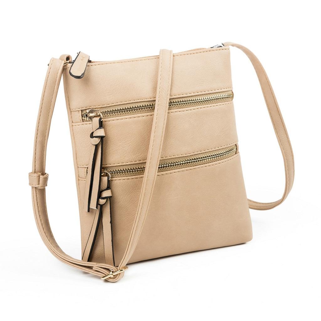 Bolso bandolera Women New Functional Multi Pocket Crossbody Bag Messenger Shoulder Bag para chica bolso amarillo para mujer|Top-Handle Bags| - AliExpress