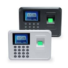 """Интеллектуальный биометрический отпечаток пальца машина для регистрации паролей работник проверка-в рекордер 2,"""" TFT ЖК-экран DC 5 V Время часы"""