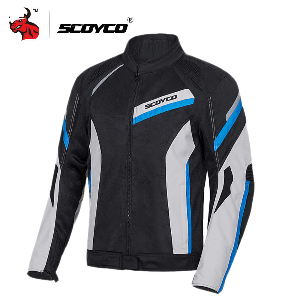 SCOYCO Motorcycle Jacket Protective Gear Reflective Motocross Jacket Summer Breathable Moto Jacket Motorcycle Protection Armor