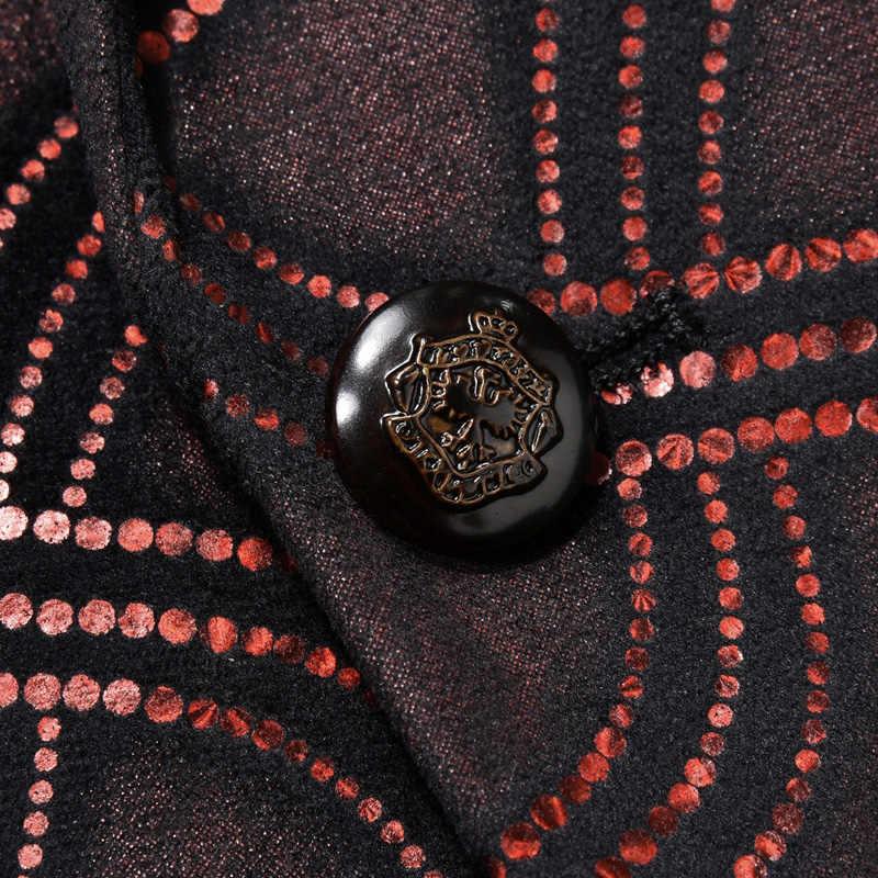 Plyesxaleスーツ男性2018スリムフィットワイン赤メンズスパンコールスーツ結婚式のスーツ男性エレガントブルゴーニュタキシードジャケットウエディング着用q259