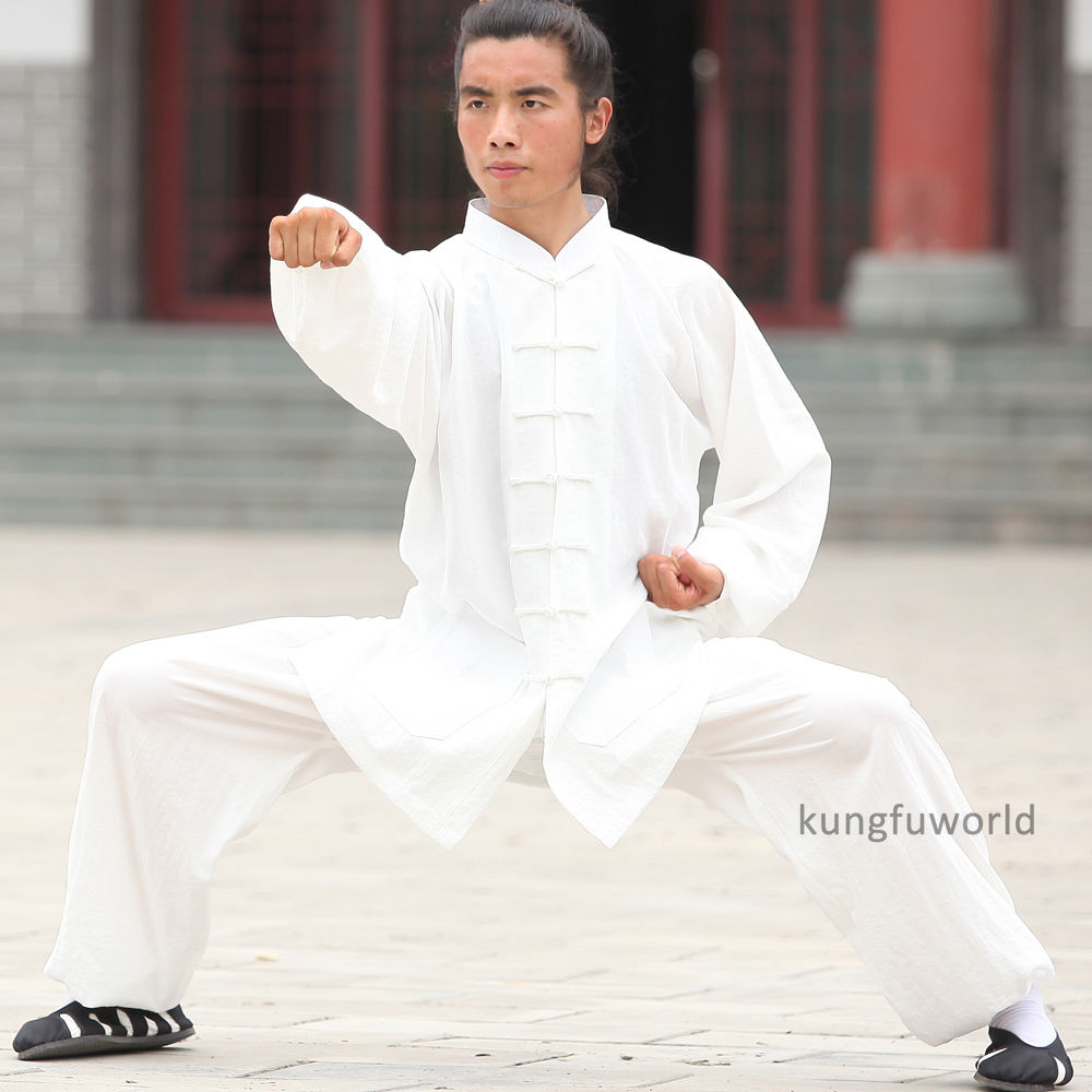 24 Kleuren Linnen Wudang Taoïstische Shaolin Monnik Tai chi Uniform - Sportkleding en accessoires - Foto 4