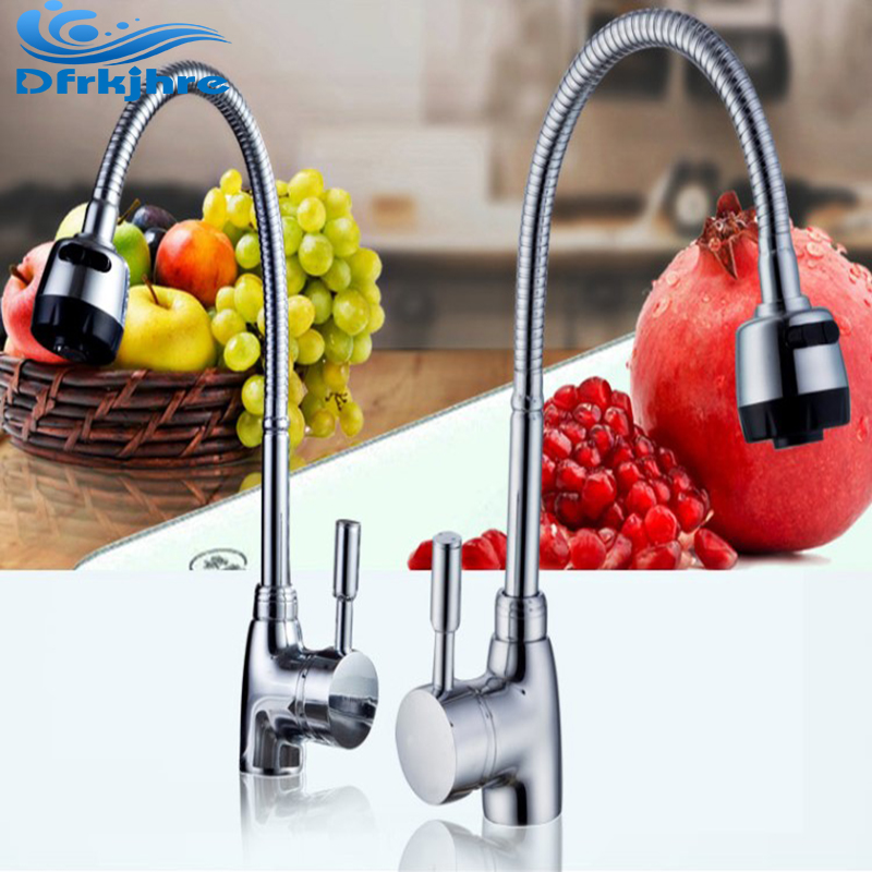 Chrome Kitchen Faucet Brass Kitchen Mixer Cold and Hot Kitchen Tap torneira cozinha Single Hole wee sing bible songs