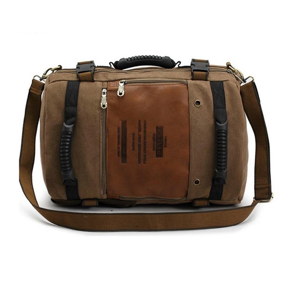 Multipurpose Travel Canvas Large Shoulder Bag Backpack Rucksack Handbag