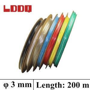 LDDQ 200m*3mm Heat shrink tubing 2:1 Heat Shrink Tube Tubing 600&1000V Low pressure Heat sleeve Cable Sleeve termoretractil