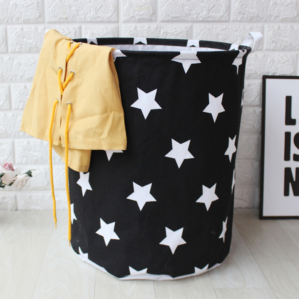 Image 2 - Art Cloth Folding Geometry Dirty Clothes Toys Storage Bucket Dirty Clothes Laundry Basket For Household Storage Basket-in Storage Baskets from Home & Garden