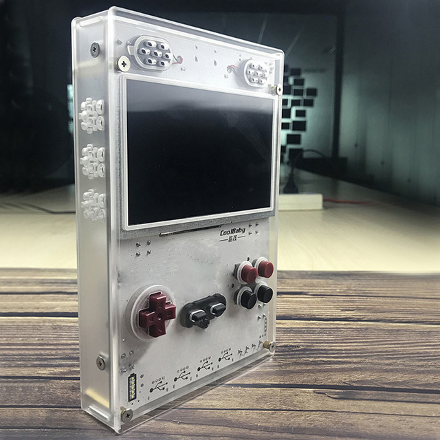 DIY 5.0 Inch HD IPS Screen Handheld Game Player with Raspberry pi Compute Module 3 Lite Game console Built-in Over 15000 Games