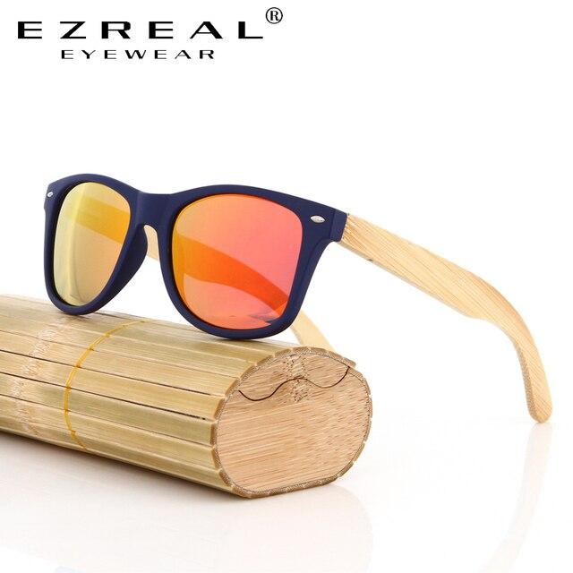 a763942e196481 EZREAL bambou lunettes de Soleil pour hommes et femmes polarisées nouvelle  mode en bois lunettes de